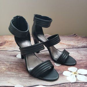 Black Calvin Klein Sandal Heels